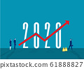 Business goal strategy and grow business invest in new 2020 year. 61888827