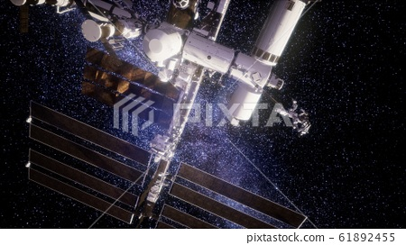 International Space Station in outer space 61892455
