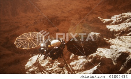Insight Mars exploring the surface of red planet 61892458