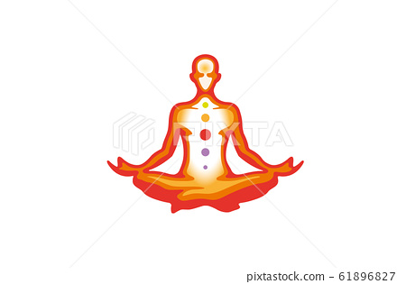 meditation pose logo vector icon design stock illustration 61896827 pixta meditation pose logo vector icon design