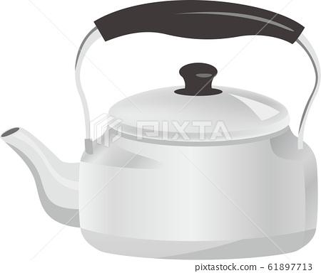 Silver kettle image illustration 61897713