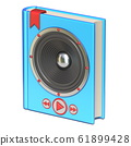Blue book with speaker and buttons Audio book 61899428