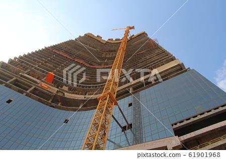 사우디 아라비아의 제다 타워 건설 도중 61901968