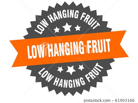 low hanging fruit sign. low hanging fruit circular 61903166