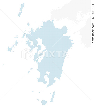 dotted Japan map, Kyusyu region 1 61903651