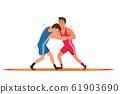 Greco roman wrestling flat vector illustration 61903690