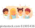Children choir flat vector illustration 61905436