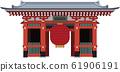 Illustration material Japanese famous places Tokyo Asakusa Kaminarimon Vector Landmark 61906191