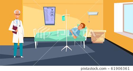 Medical checkup flat vector illustration 61906361