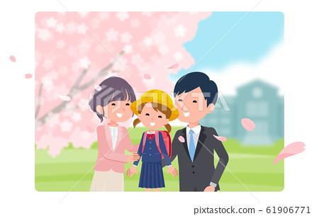 小學生 小學學生 櫻花 61906771