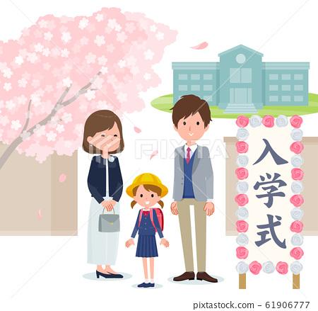 Spring event_Entrance ceremony girl 61906777