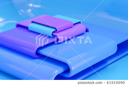 beautiful emboss glossy blue and magenta violet color glossy luxury modern dark blue color background 3d illustration render 61910090