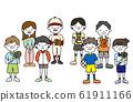 體育部門學生插畫製服 61911166