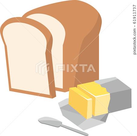 식빵과 버터의 이미지 일러스트 61911737