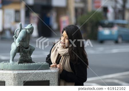 女肖像季度半日本年輕女性20多歲女大學生JD旅遊 61912102