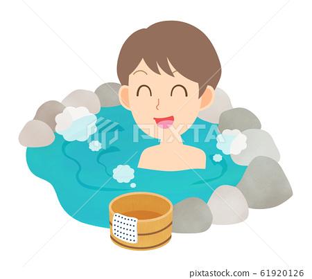온천 노천탕 목욕 남성 61920126