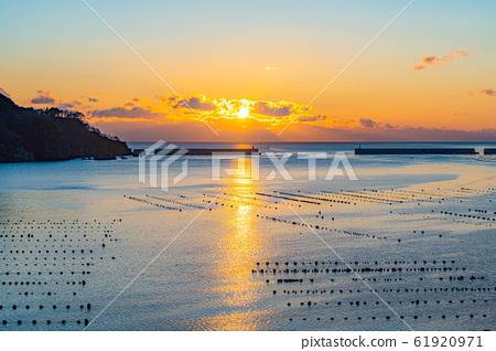 Morning glow in Ofunato Bay [Iwate] 61920971
