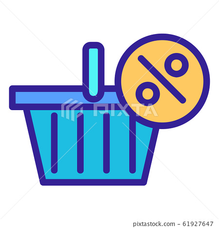 Discount icon vector. Isolated contour symbol illustration 61927647