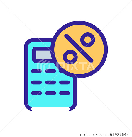 Discount icon vector. Isolated contour symbol illustration 61927648
