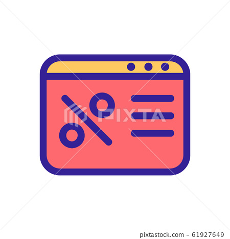 Discount icon vector. Isolated contour symbol illustration 61927649