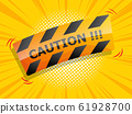 caution sign comic background 61928700