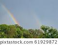 after rain double rainbow 61929872