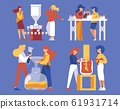 Isolated on blue background vector concept scenes 61931714