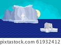 bear on the ice. drawing bright iceberg and sea 61932412