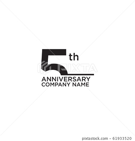 5th year anniversary icon logo design template 61933520
