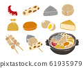 Illustration of oden and ingredients 61935979