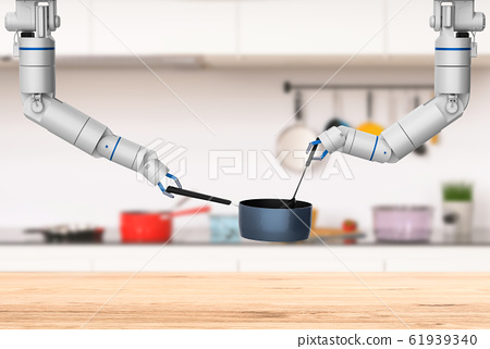 chef robot cooking 61939340