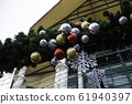 Season of Christmas decoration in outdoor park 61940397