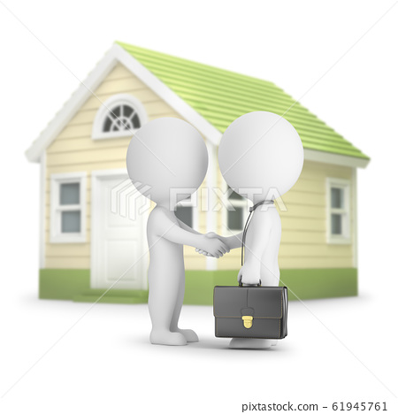 3d small people - home purchase 61945761