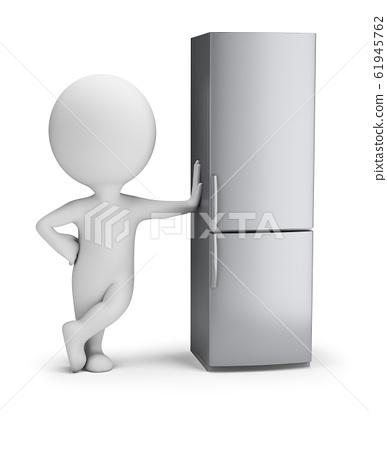 3d small people - fridge 61945762