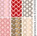 Valentine seamless patterns with hearts. 61949600