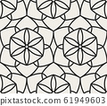 Decorative geometrical seamless pattern. 61949603