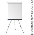 Vector realistic blank flipchart isolated on white 61951232