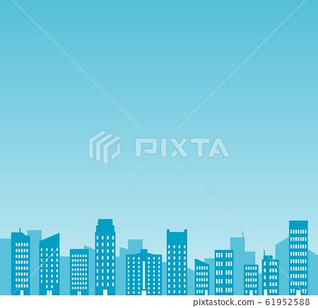 빌딩 군과 푸른 하늘의 일러스트 61952588