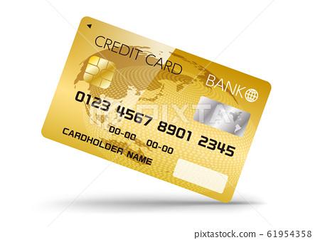 무 현금 결제에 사용할 신용 카드 디자인 이미지 61954358