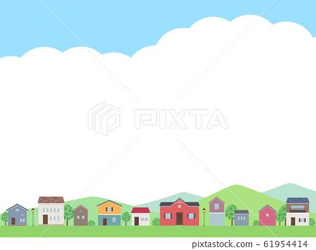 房子內襯景觀和天空框架圖 61954414