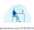 People sitting in the chair. Vector person. 61958939