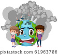 Poster design for stop pollution with children and 61963786