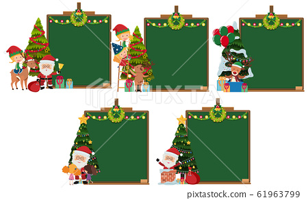 Border template with christmas theme background 61963799