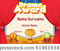 Certificate template for drama award with stage in 61963938