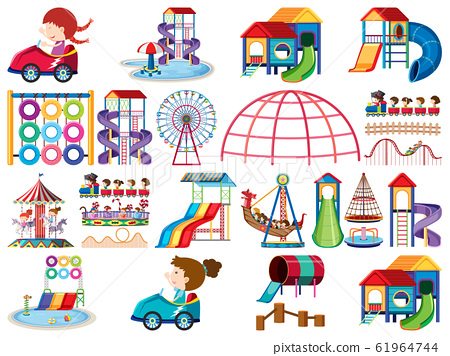 Large set of isolated objects of kids 61964744