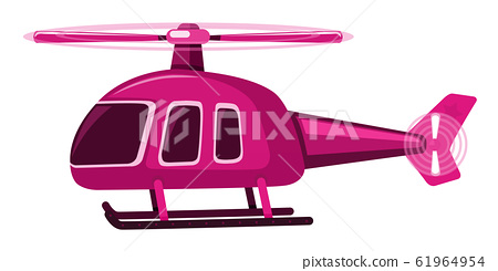 Single picture of pink helicopter 61964954