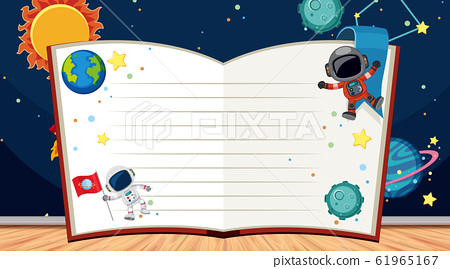 Border template with space theme in background 61965167