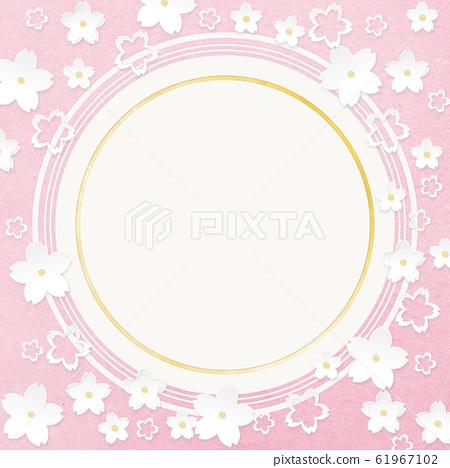 圆圆圆太空纸工艺樱花 61967102