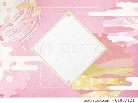 배경 소재 - 다이아몬드 - 벚꽃 - 雪輪 - 꽃 보라 - 벚꽃 눈보라 61967121