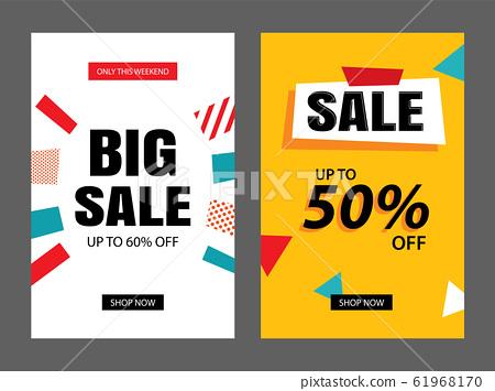 Set of sale banner templates. Vector illustrations 61968170